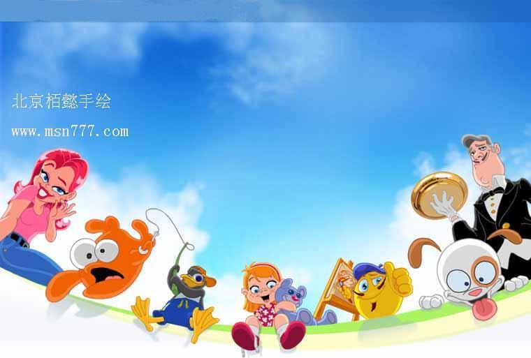 幼儿园卡通手绘_栢懿手绘中心 -北京央美创意美术培训